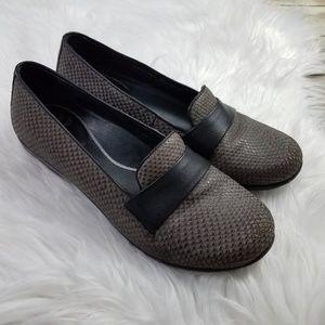 DANSKO Oksana Marseille Grey Snake Nubuck Loafers